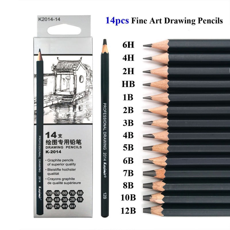 BOX OF 12 NEW 6H GOOD QUALITY ART GRAPHITE PENCILS DRAWING STUDENT SKETCHING