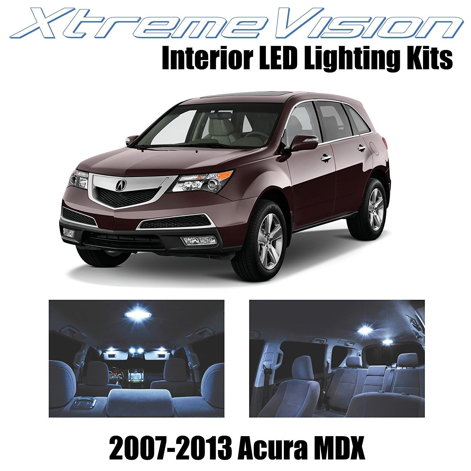 Xtremevision Led For Acura Mdx 2007 2013 13 Pieces Cool White Premium Interior Led Kit Package Installation Tool Walmart Com Walmart Com