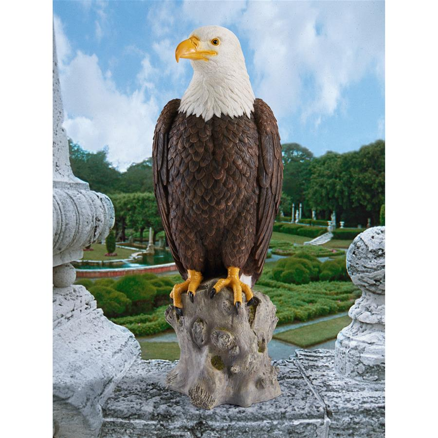 Majestic Mountain Eagle Garden Statue