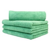"""Carcarez 4Pc Large Microfiber Towels Household Car Boat Cleaning Polishing Cloths 16x24"""""""