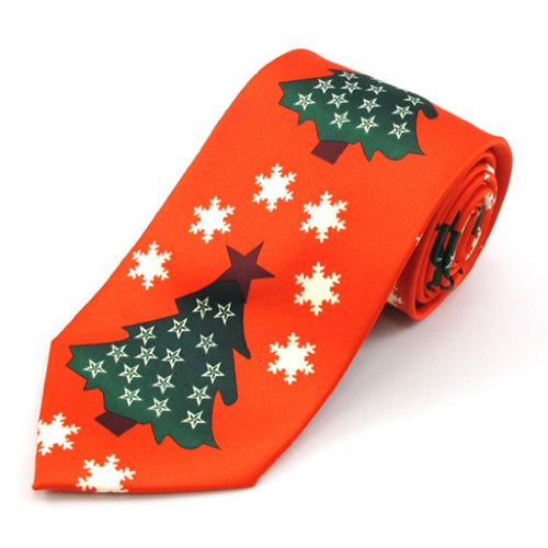Oh Christmas Tree Stripe X-Long Tie