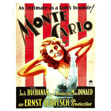 Monte Carlo Jeanette Macdonald On Window Card 1930 Movie Poster Masterprint