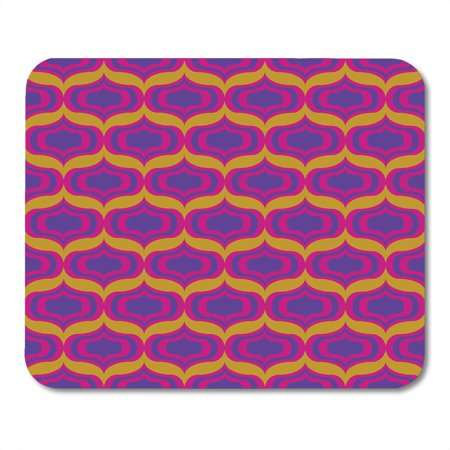 SIDONKU Orange 1960S 60S Pattern Pink Retro Mod Vision Abstract Mousepad Mouse Pad Mouse Mat 9x10 inch - 60s Mod Outfits