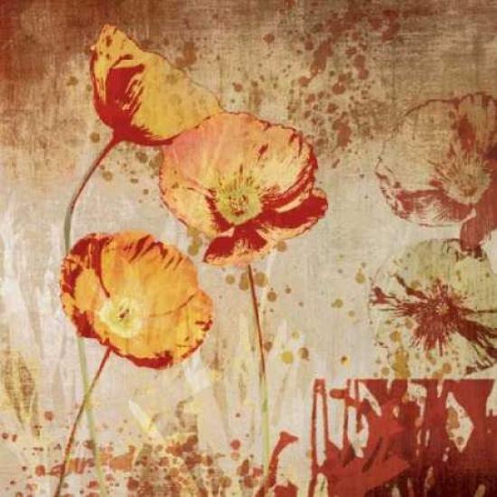 Poppy Heat II Poster Print by Tandi Venter