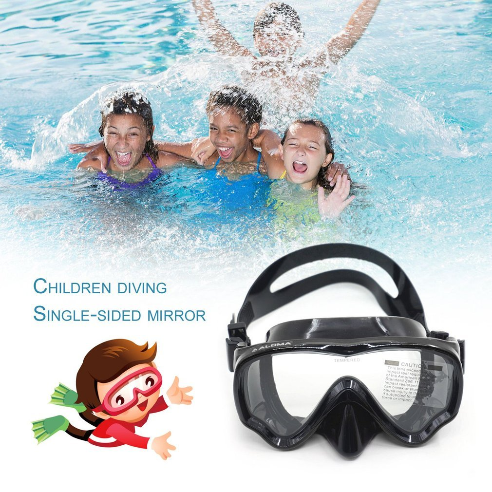 AM-100J Children Kid Anti-fog Silicone Diving Mask Goggles Swimming Equipment by