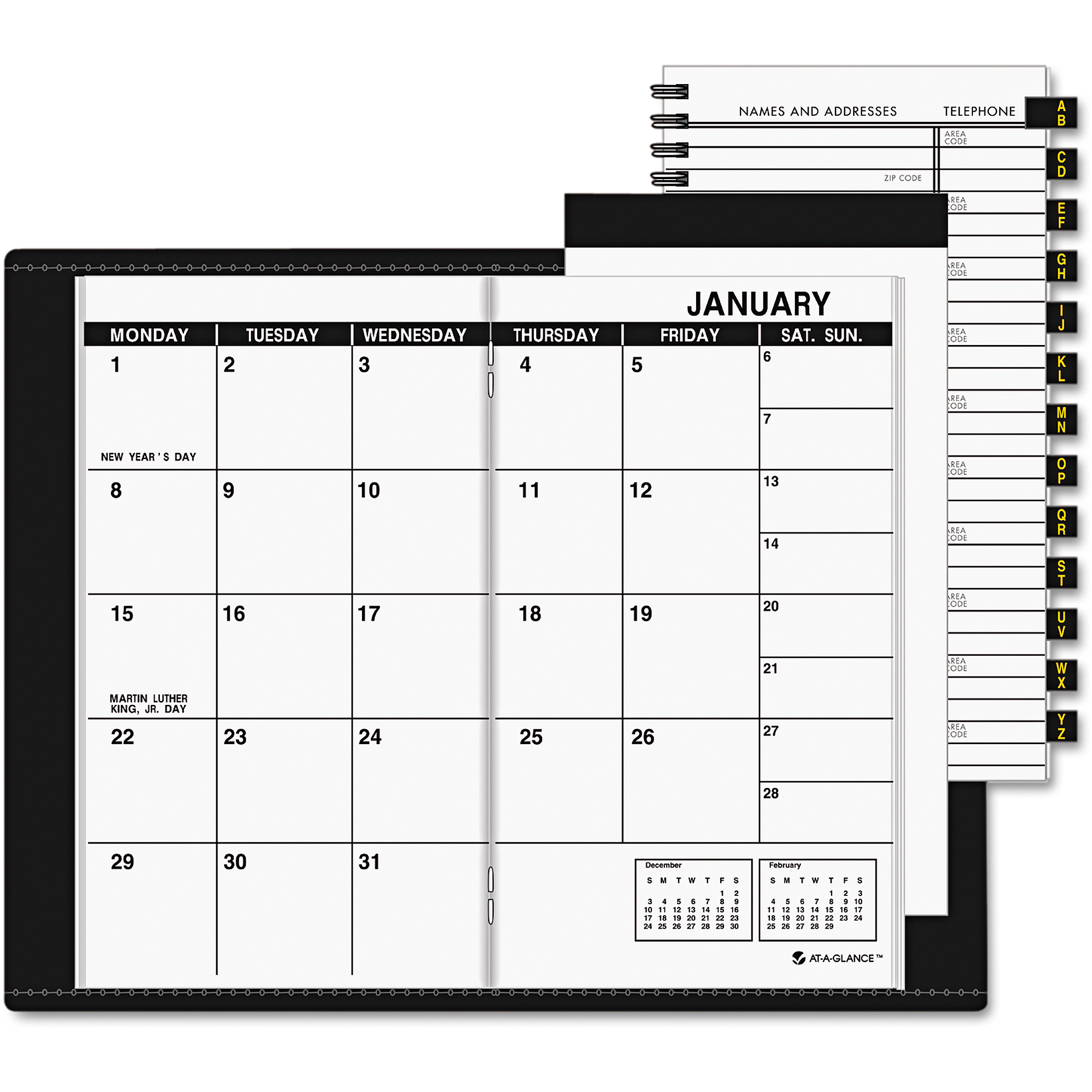 AT-A-GLANCE Pocket-Size Monthly Planner, 3 1/2 x 6 1/8, White, 2017-2018