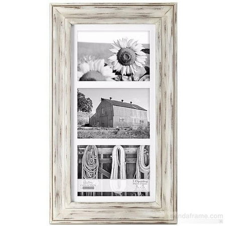WHITMAN WHITE WASH matted triple 5x7 frame by Malden Design (Limited Edition Triple Framed)