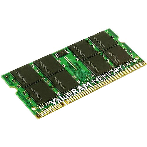 Kingston 1GB DDR2 SDRAM Memory Module - 1GB (1 x 1GB) - 667MHz DDR2-667/PC2-5300 - DDR2 SDRAM - 200-pin