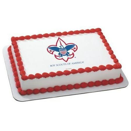 Boy Scout Emblem ~ Edible Cake Image - Its A Boy Cake