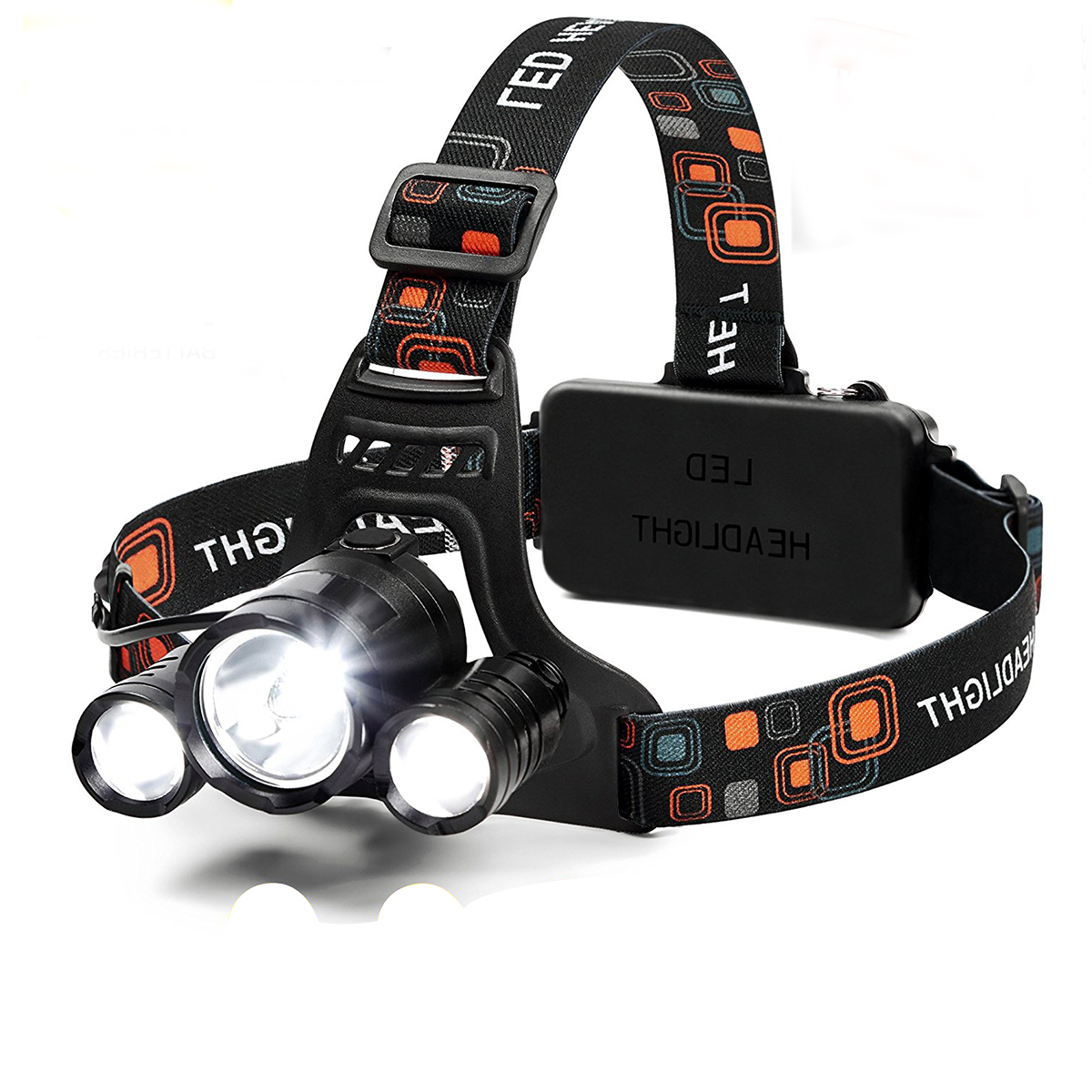 Led Headlamp 6000 Lumen Flashlight 4 Modes Light Rechargeable