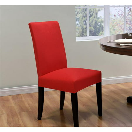 Madison ING-DRC-RD Kathy Ireland Ingenue Dining Room Chair Cover, Red