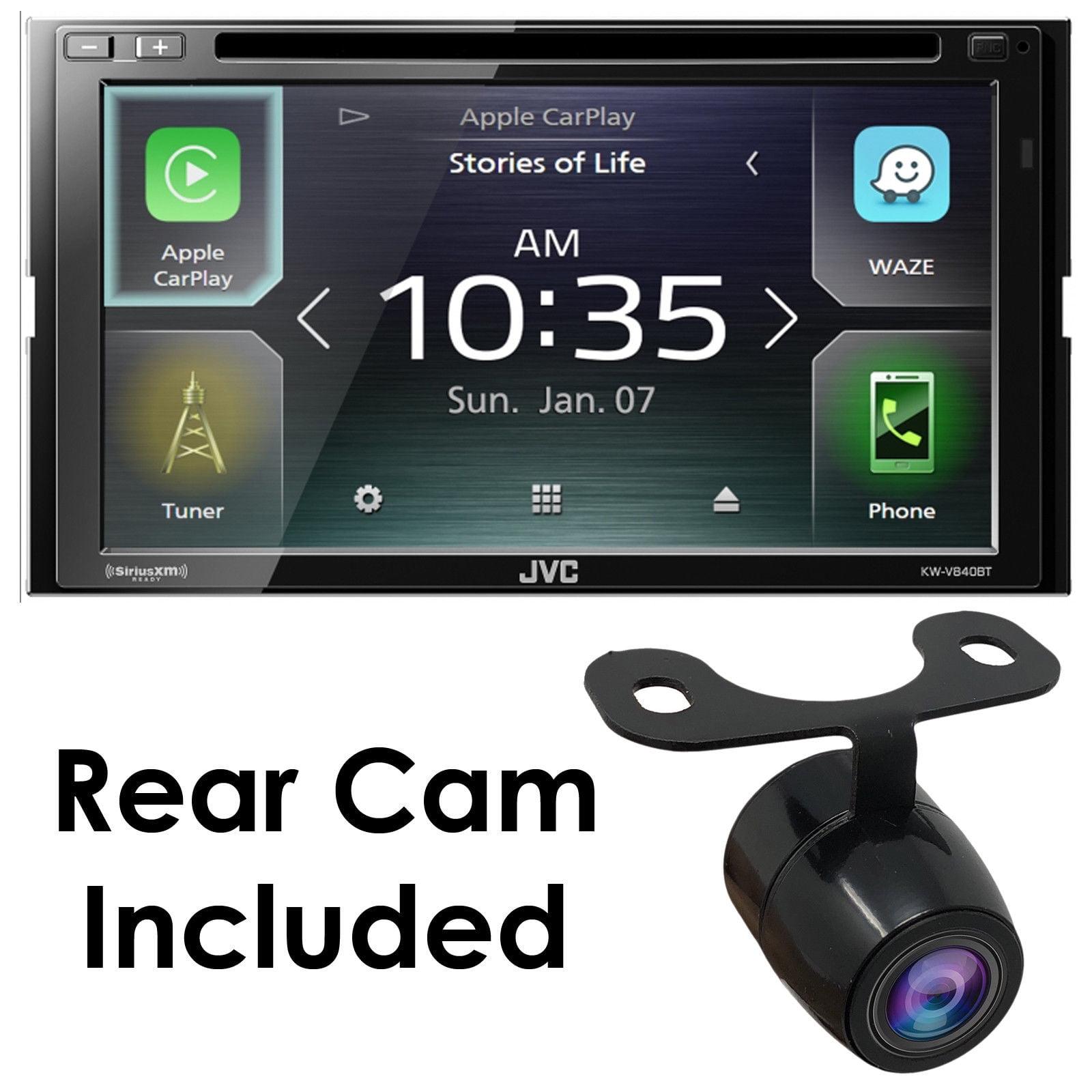 "JVC KW-M740BT 6.8"" 2-DIN Digital Media Receiver w/ Bluetooth, Apple CarPlay +CAM"