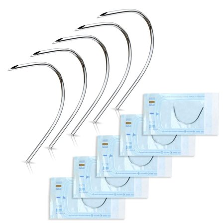 - Curved Piercing Needles Perfect to pierce Ear Nose Belly Nipple Eyebrow Labret