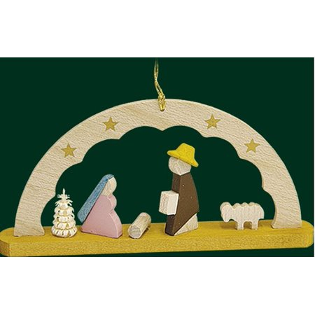 The Holy Family Nativity Scene German Wood Christmas Arch Ornament