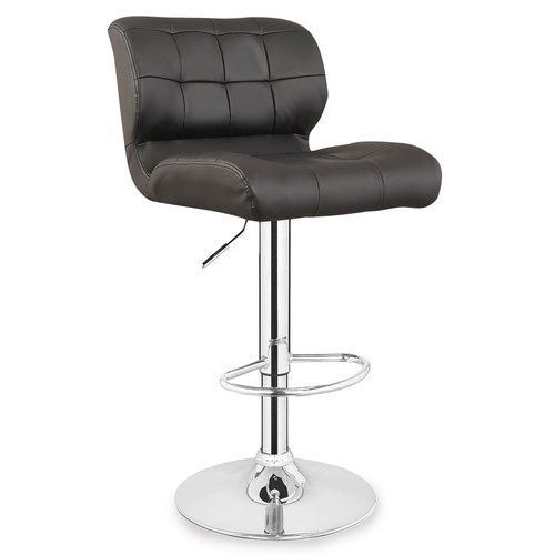 Leick Faux Leather Swivel Bar Stool in Brown (Set of 2) by Leick Furniture