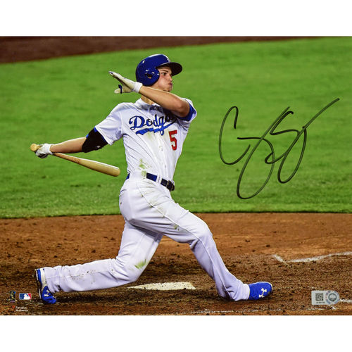 """Corey Seager Los Angeles Dodgers Autographed 8"""" x 10"""" Hitting Photograph"""