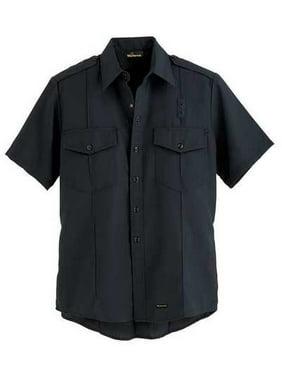 WORKRITE FR Short Sleeve Shirt,Navy,42 in.,Snaps 700NX45NB
