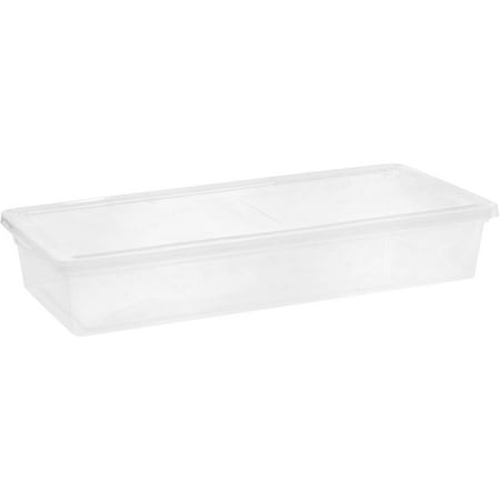 IRIS 41 Qt. Underbed Plastic Storage Box, Clear