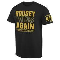 Ronda Rousey UFC 190 Rousey Always Wins T-Shirt - Black