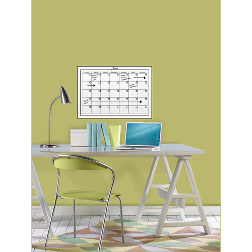 WallPops Medium White Monthly Calendar