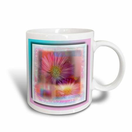 3dRose Daisy Watercolor Shabby Chic, Ceramic Mug, 11-ounce (Shabby Chic Paper Plates)