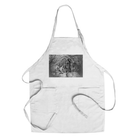 Coeur Dalene  Idaho   Chance Mine Lead Mining   Vintage Photograph  Cotton Polyester Chefs Apron
