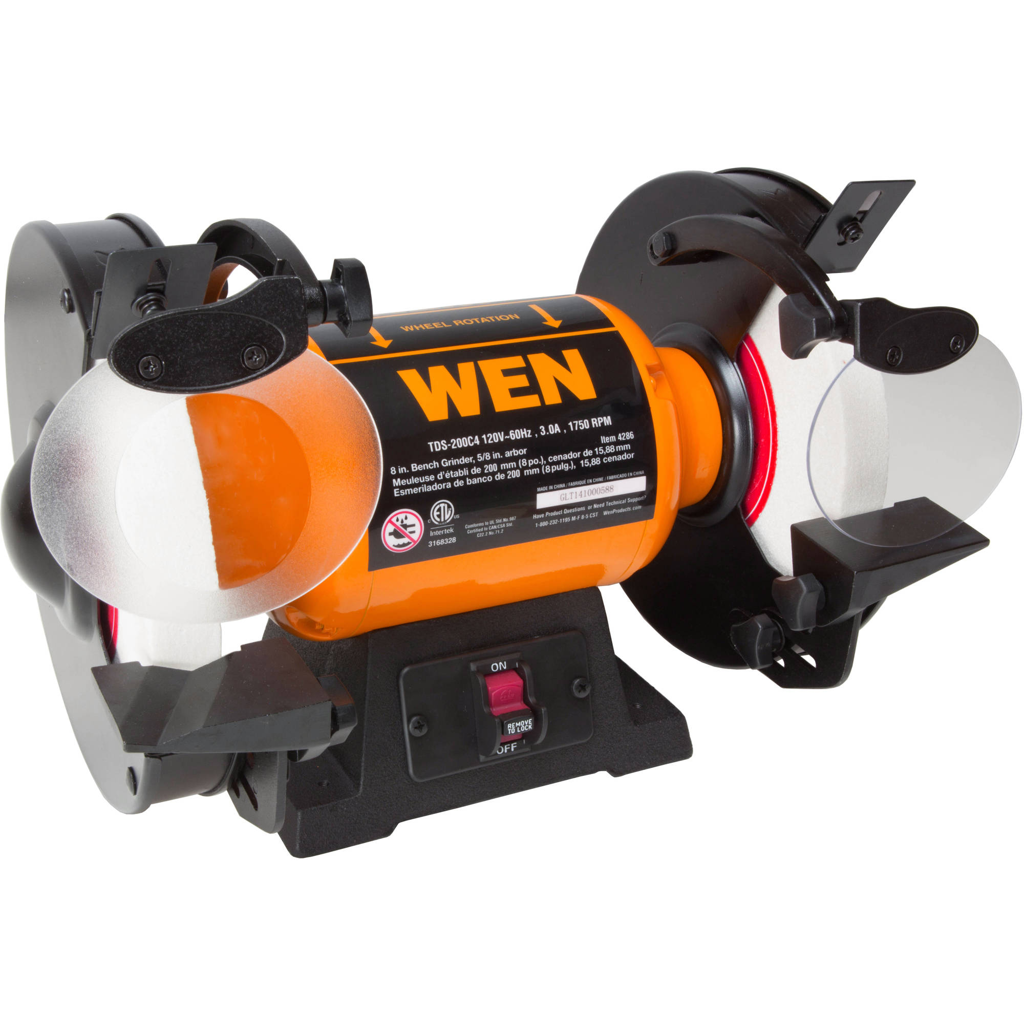 "WEN 8"" Slow Speed Bench Grinder"