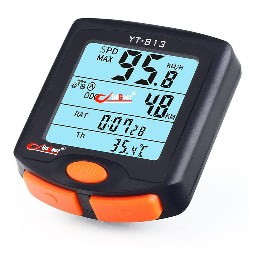 Huppin'sWireless Bike Cycling Bicycle Cycle Computer Odometer Speedometer Backlight Good