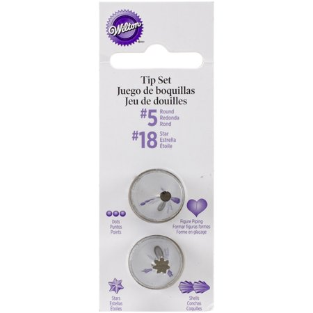 Wilton Decorating Tip Set, #5 Round & #18 Star 418-185