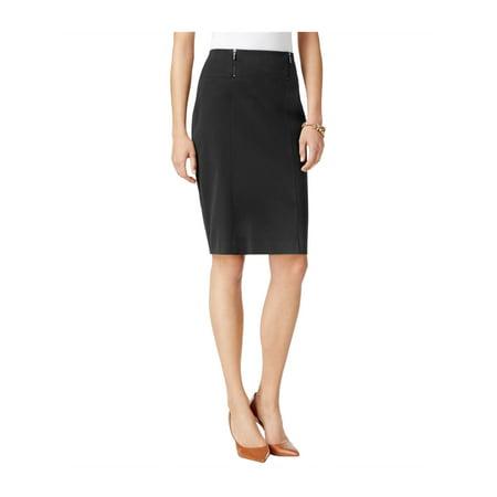 ALFANI Womens Black Zippered Knee Length Pencil Wear To Work Skirt  Size: -