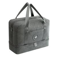 Dry and wet separation bag swimming bag beach bag waterproof shoe bag Grey