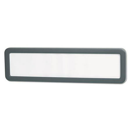 - Recycled Cubicle Nameplate With Rounded Corners - Charcoal