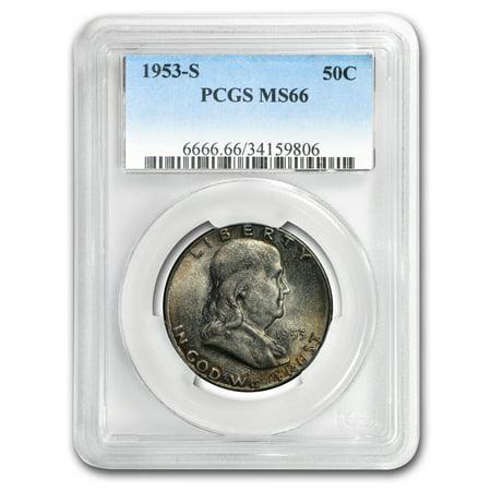 1953-S Franklin Half Dollar MS-66 PCGS (Mint Set (Franklin Half Dollar Mintmark)