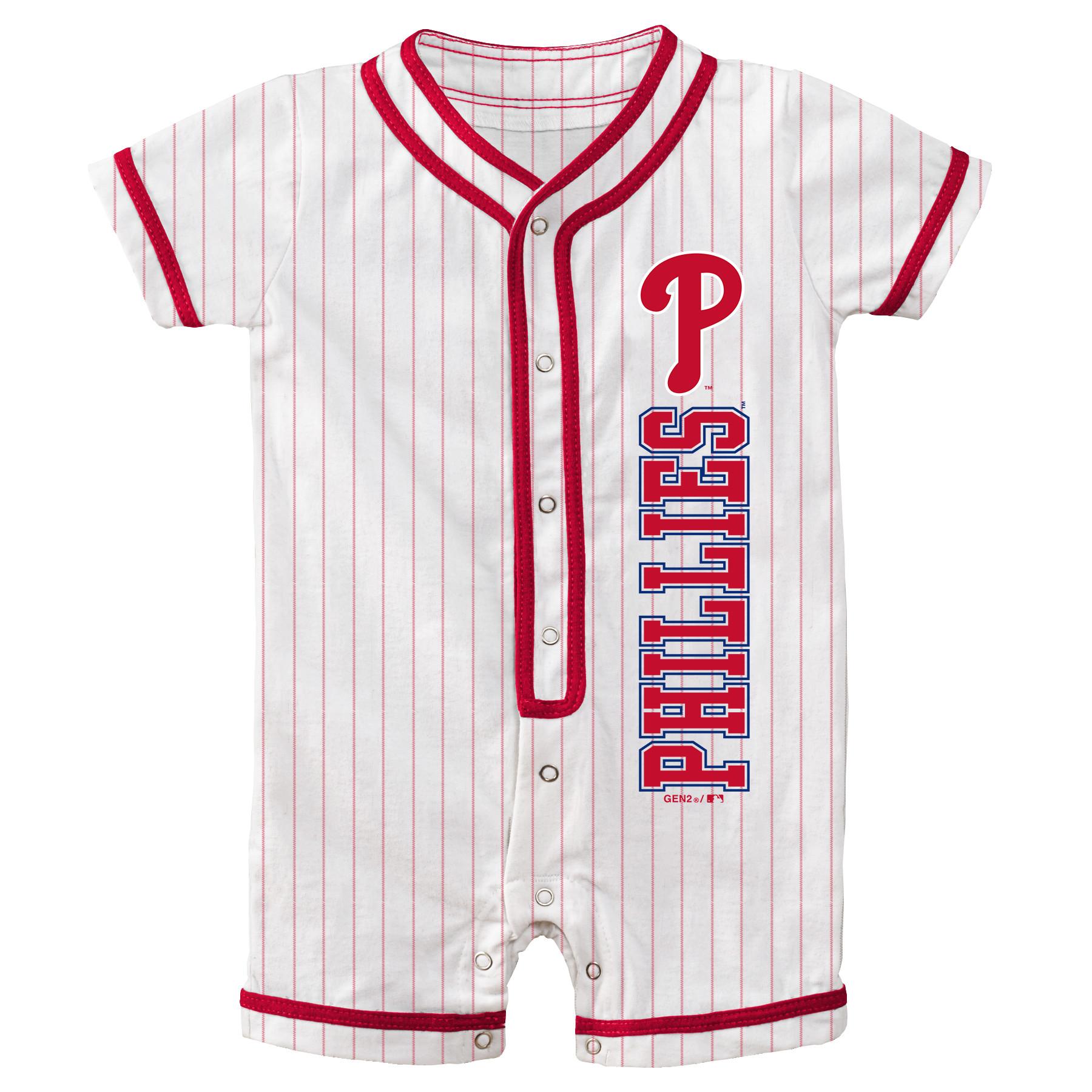 Philadelphia Phillies Newborn Game Ready Coverall Romper - White