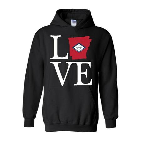 Love Arkansas Unisex Hoodie Hooded Sweatshirt