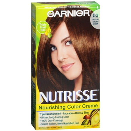 Chestnut Hair Colour (Garnier Nutrisse Haircolor - 53 Chestnut (Medium Golden Brown) 1 Each (Pack of)