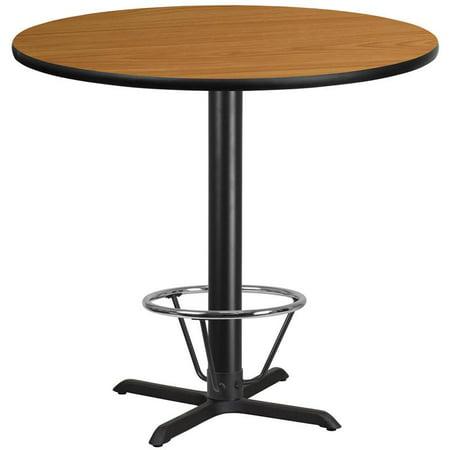 "Flash Furniture 42"" Round Laminate Top Pub Table in Walnut - image 3 de 4"