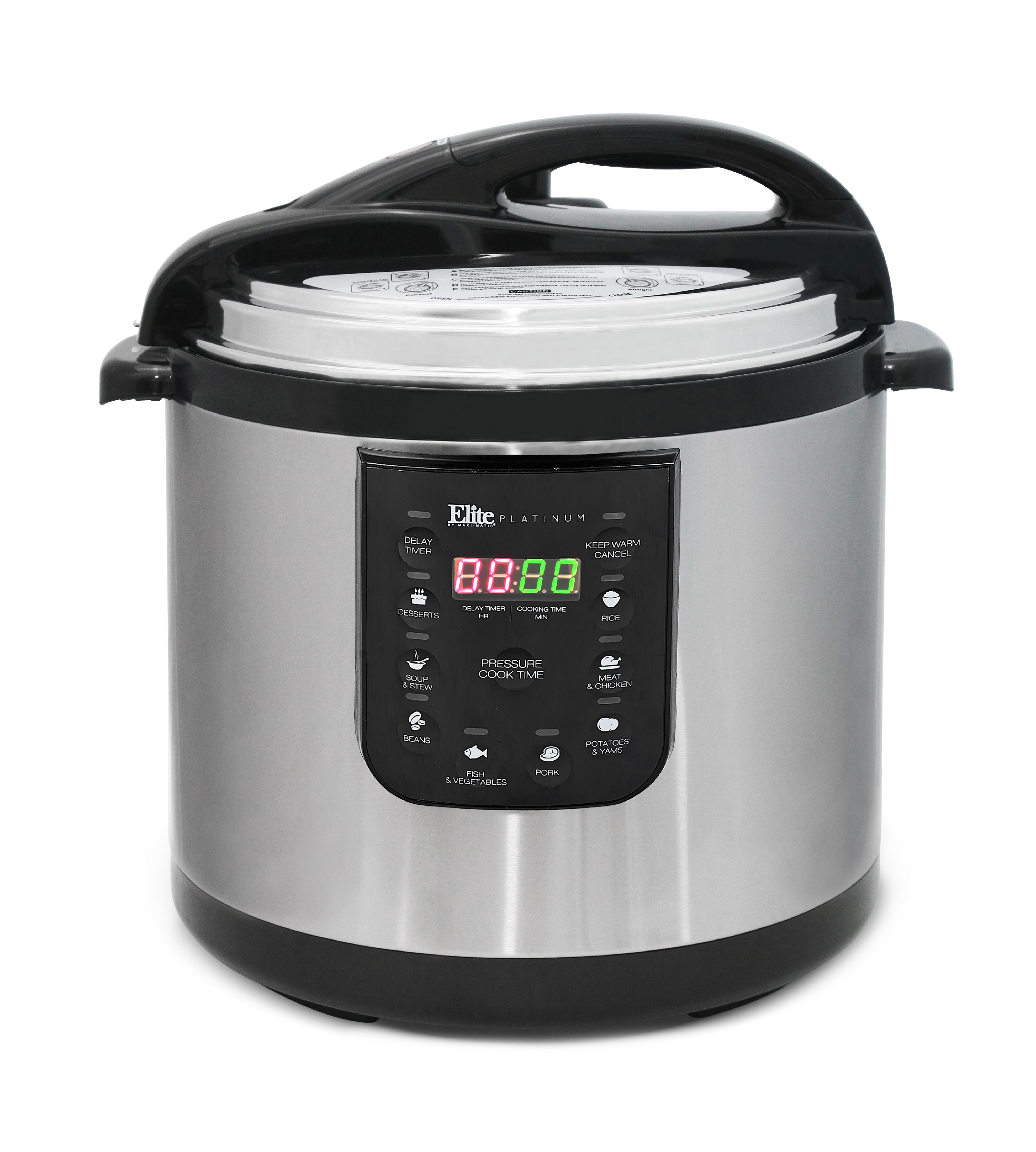 Elite Platinum NEW and IMPROVED EPC-1013 10 Quart Electric Pressure Cooker, Stainless Steel