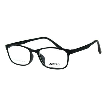 Mens Narrow Light Weight Indestructible TR90 Plastic Optical Eyeglasses Frame Shiny (Lightweight Plastic Eyeglass Frames)