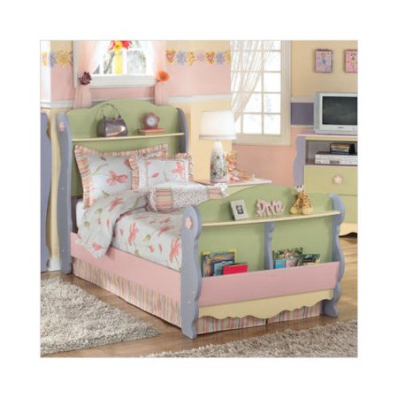 Ashley Furniture Doll House Twin Sleigh Bed In Multicolored Pastel