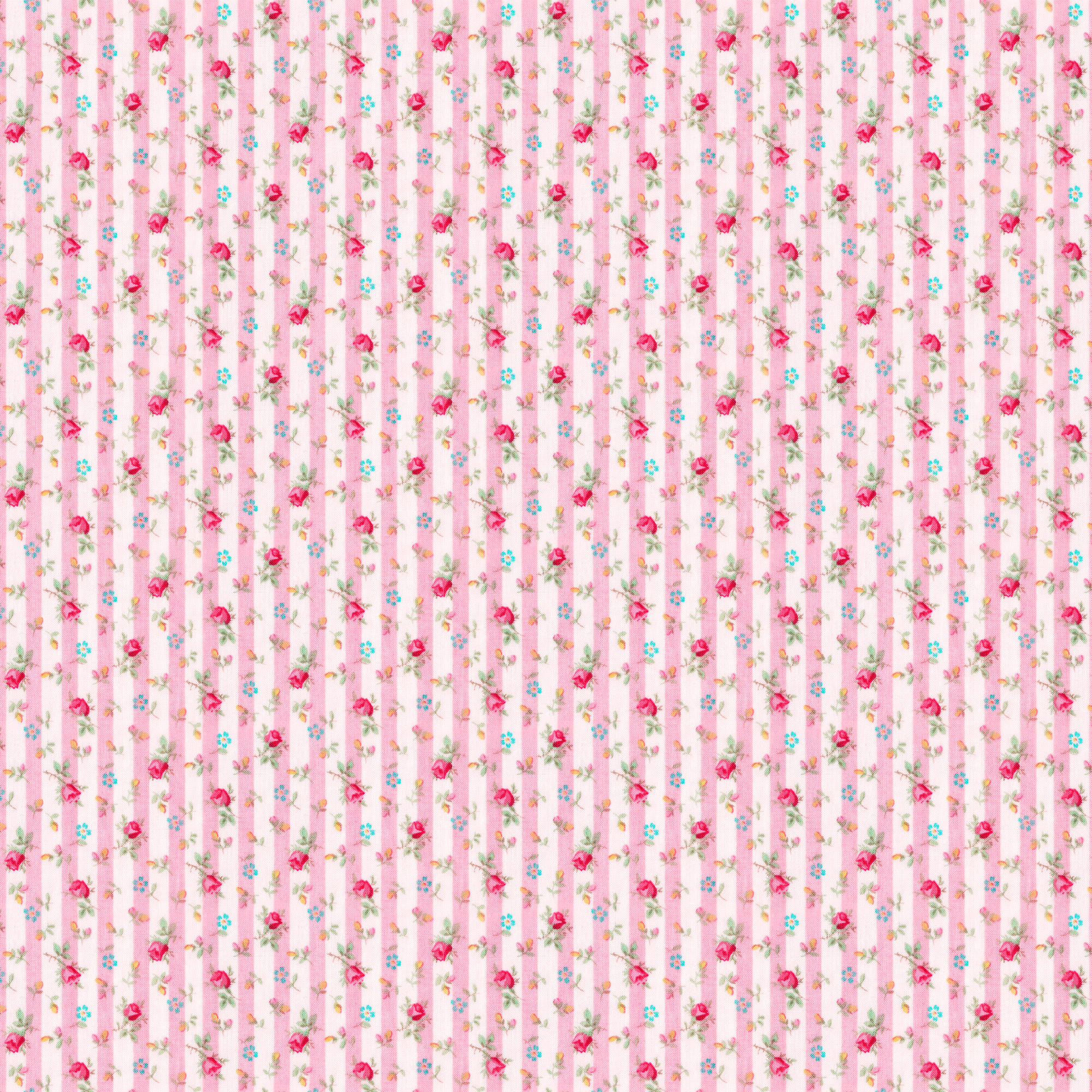 Rose and Hubble Mindy's Stripe Floral Rose Quilting Cotton Fabric By The Yard, 44""