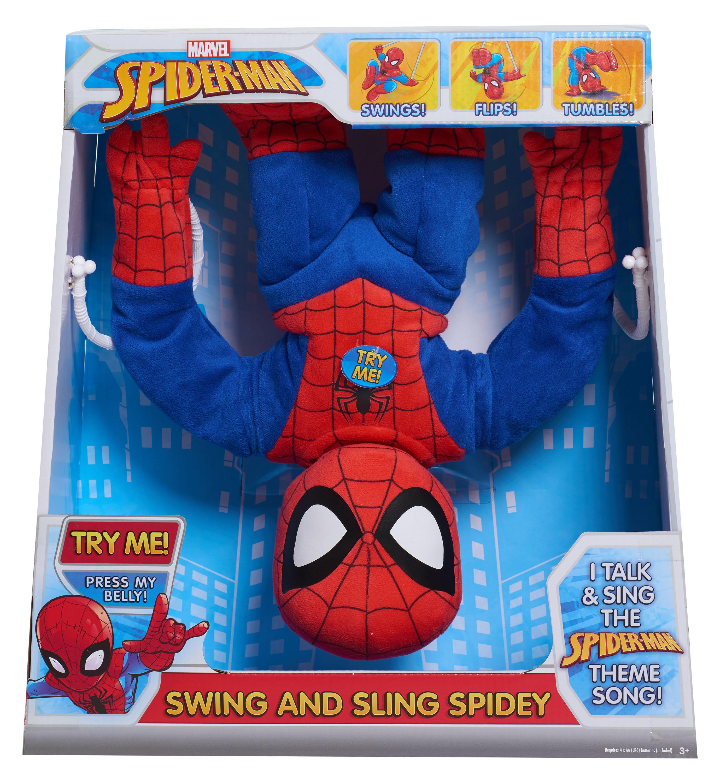 """Marvel Swing & Sling 16"""" Plush Spiderman"""