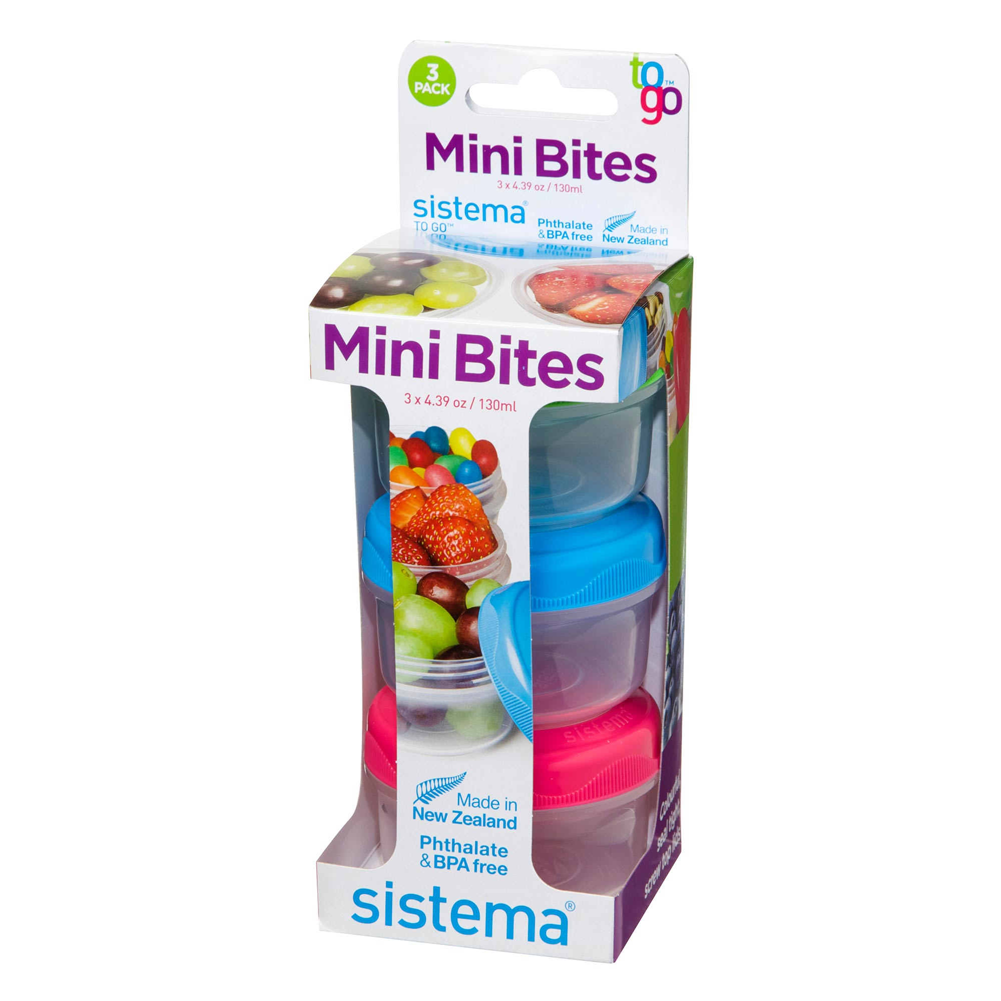 Sistema Mini Bites 3-Pack Small Snack Containers Pack