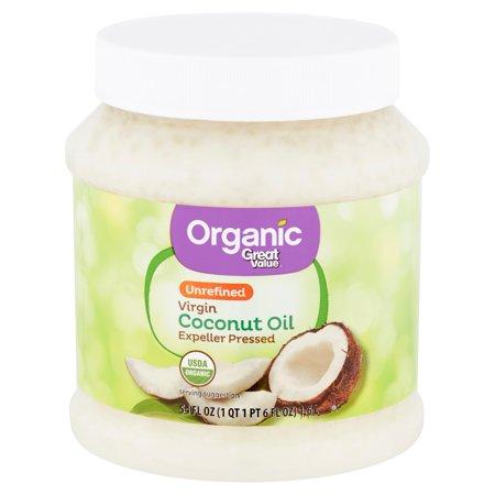 Great Value Organic Unrefined Virgin Coconut Oil, 54 fl