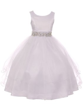 3ba5d1656a130 Product Image Little Girl Sleeveless Rhinestone Formal First Communion Flower  Girl Dress White 6 MBK 374 BNY Corner