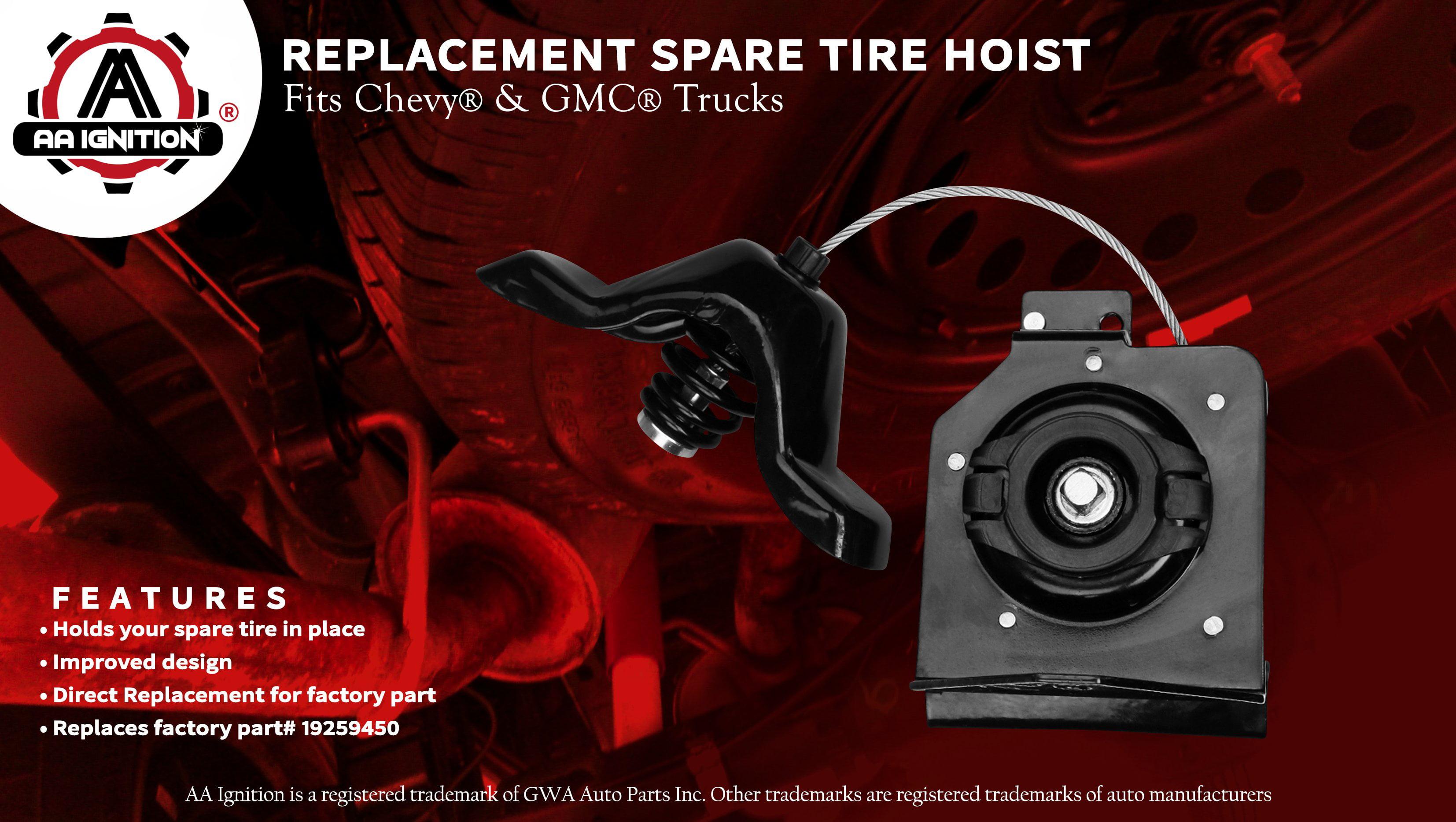 JSD 19259450 Spare Tire Hoist for GMC Sierra 2500 Spare Tire Winch for Chevy Silverado 2500 Spare Tire Hoist for Chevy Silverado 3500 HD Spare Tire Winch 924-502