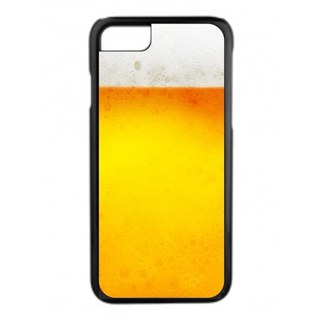 Beer Design Protective Durable Tough Black Plastic Overcase + Hard Rubber Lining Phone Case That Is Compatible with the Apple iPhone 5c