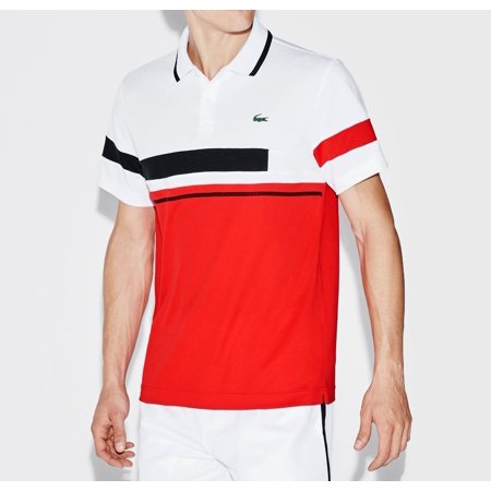 41fbe87d Lacoste NEW White Mens Size 4XL Polo Colorblocked Two Button Shirt ...