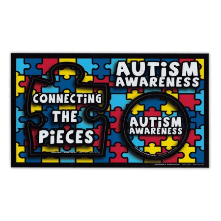 Magnetic Picture Frame - Autism Awareness (Puzzle Piece Design) - Refrigerator Magnet - 9