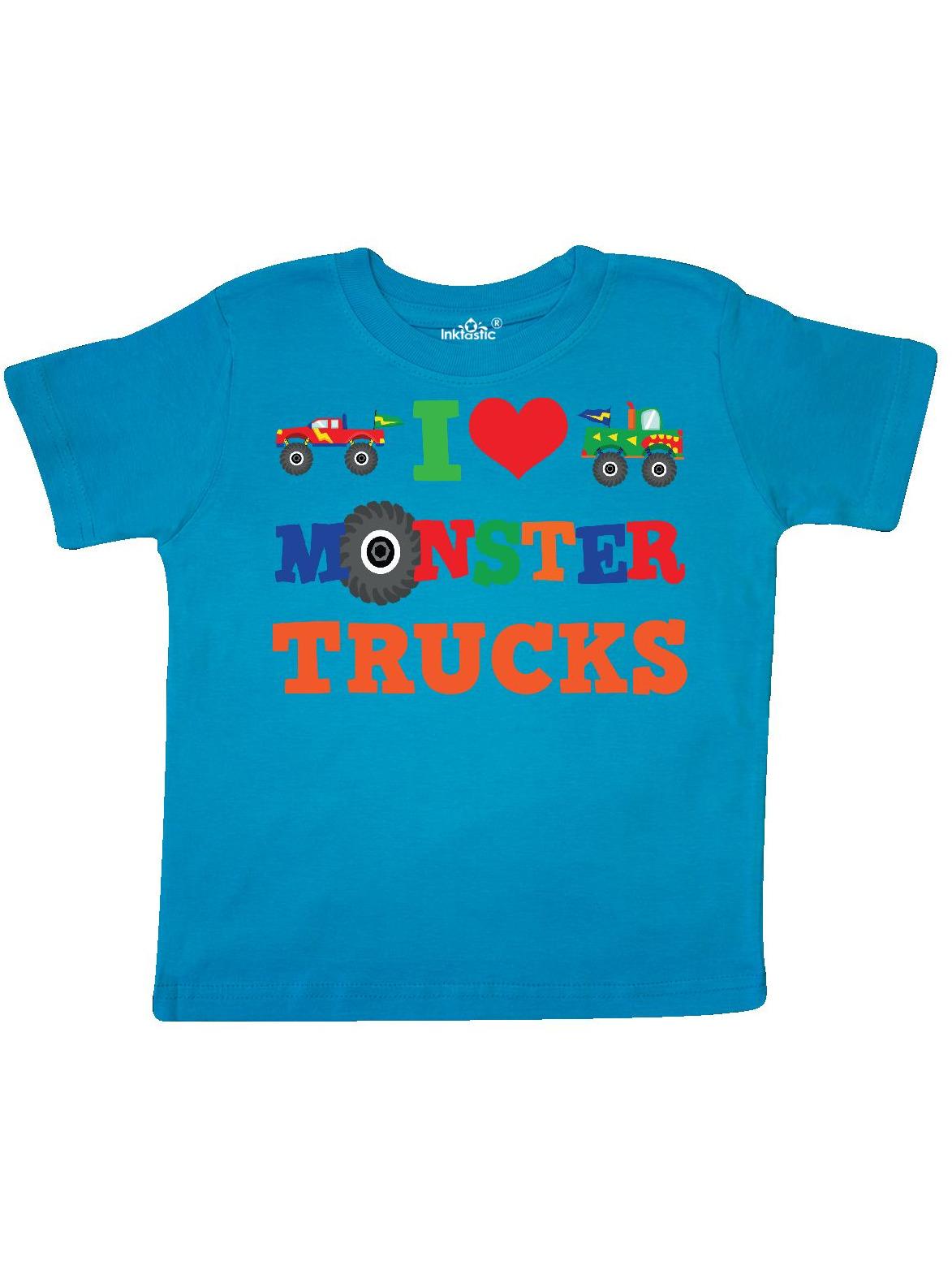 I Love Monster Trucks Toddler T-Shirt
